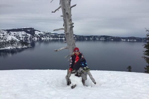 Crater Lake in March